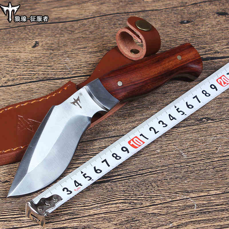 voltron Outdoor tactical straight knife high hardness special forces field survival saber wilderness portable cutter