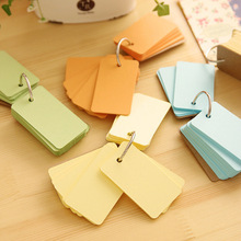 Cute Mini Color Buckle Binder Blank Memo Pad Sticky Note Paper Scrap booking Sticker Pads Word card Creative Stationery