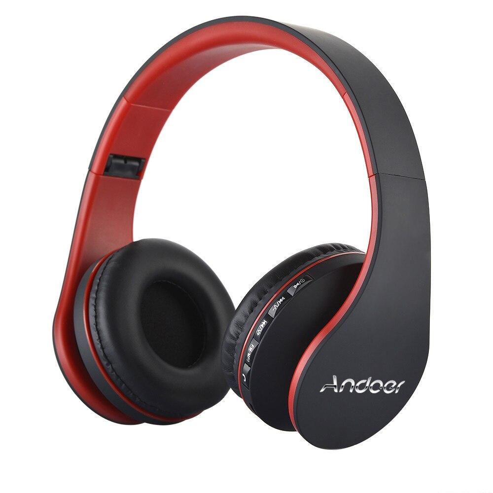 Ship from RU/US Best Selling Andoer Wireless Headphones Stereo Bluetooth 4.1 EDR Headset Card MP3 player Earphone FM Radio 4
