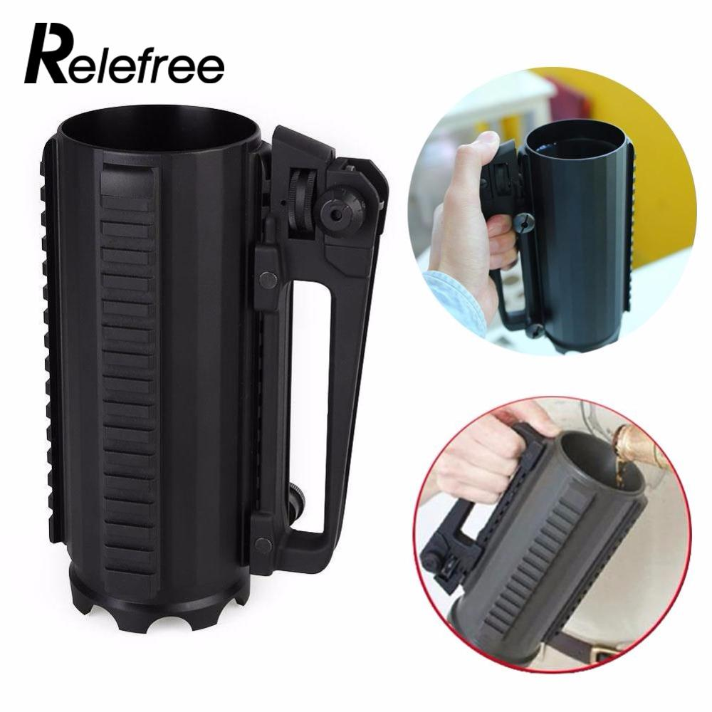 Relefree 500ML Tactical Military Multifunction Metal Alloy Detachable Carry Rail Cup Mug Outdoor Camping