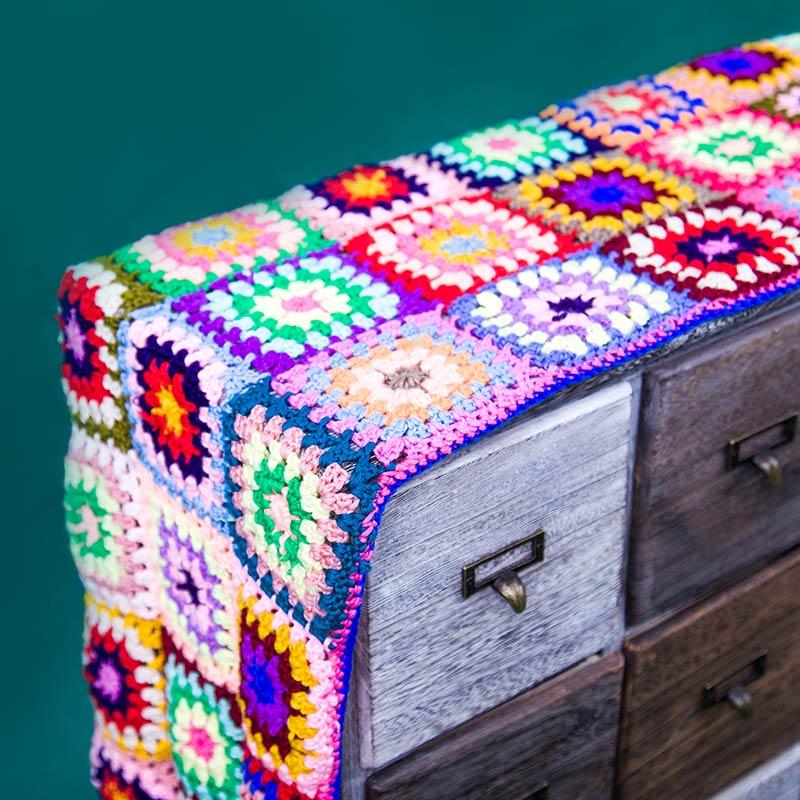Chemin de Table au crochet/crochet fait main fleurs colorées lait coton gland dentelle creuse/beaucoup d'utilisations Wrap écharpe cadeaux/Unique