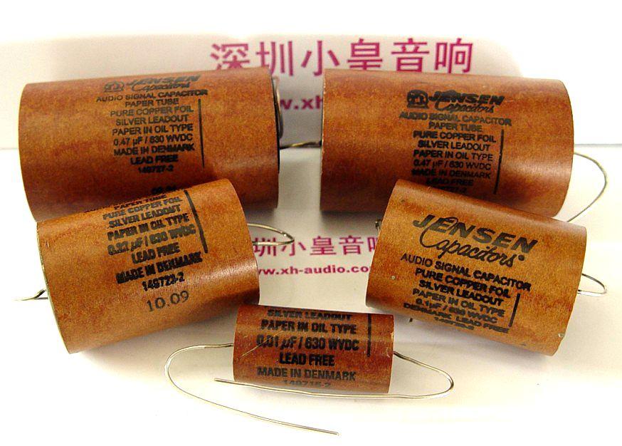 Danemark Jensen à bain d'huile de cuivre papier tube 0.01UF-1.0 UFuf/630 v audio condensateur livraison gratuite