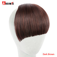 AOSIWIG Short Bangs High Temperature Fiber Natural Synthetic Hair Fake Hair Bangs Tidy Clip In Hair Pieces(China)