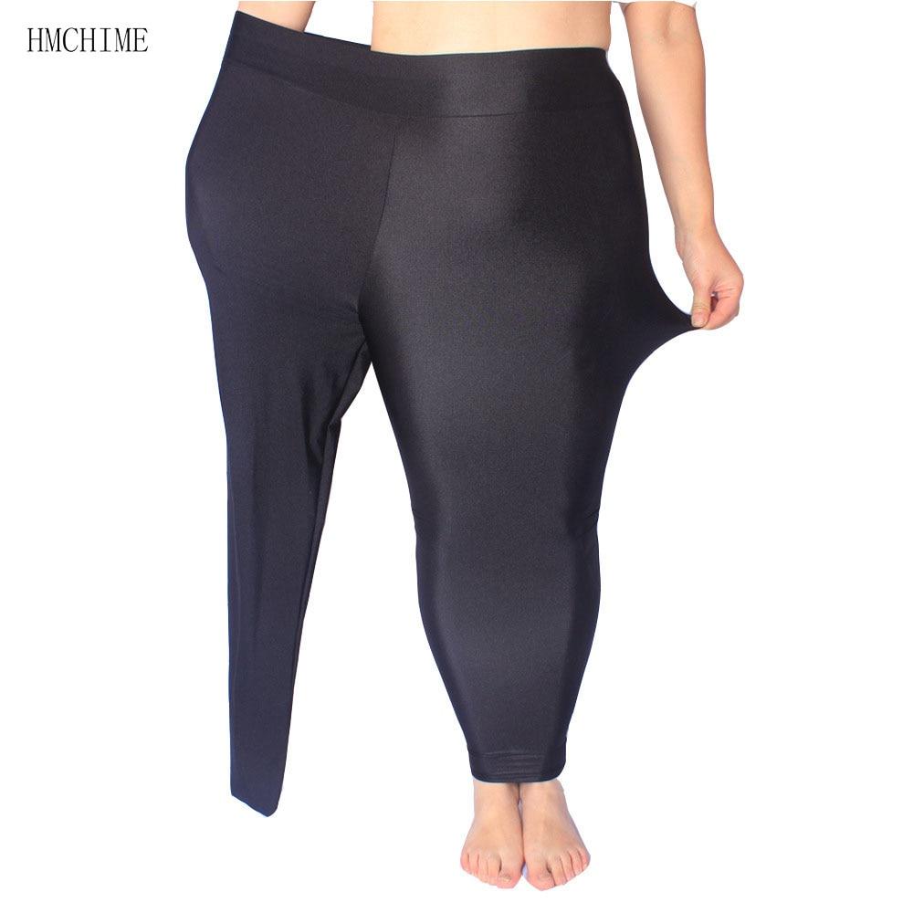 db39b2c6633f00 ZB D009 1 High elastic shiny women leggings plus size ladies work out pants  high waist trousers shine female stretch legging-in Leggings from Women's  ...