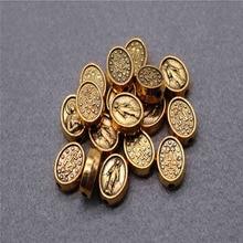 Catholic Charm Rosary Bracelet Hole-Beads Virgin-Mary Jewelry. Medal Large