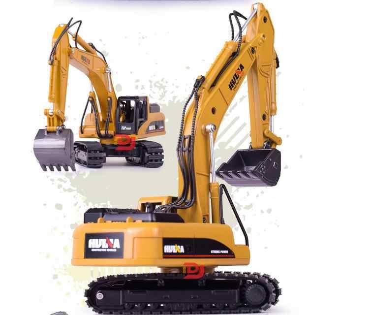Tinggi simulasi paduan rekayasa kendaraan model, 1: 50 paduan excavator mainan, coran logam, toy kendaraan, gratis pengiriman