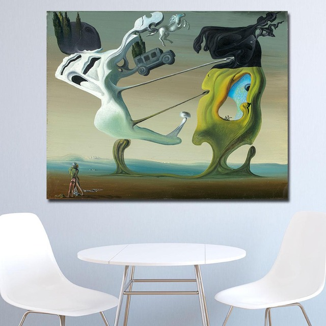 Wxkoil Salvador Dali, Maison Pour Erotomane Painting For Living Room Home Decor Oil Painting Print On Canvas Wall Painting 3