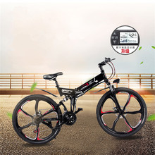 QIANGJIAN Folding electric mountain bike 48v anti-theft GPS lithium electric bicycle