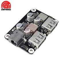 QC 2,0 3,0 двойной два на 2-портный Dual USB быстрое Зарядное устройство понижающий модуль Вход 6 V-30 V один Порты и разъёмы 24 Вт Поддержка QC2.0 QC3.0 автомобиля доска для транспортных средств
