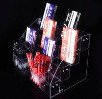 4 Tiers pen display stand Eyeshadow Pencil color Pen box Lipstick Jewelry Display Holder Cosmetics Nail Polish display rack