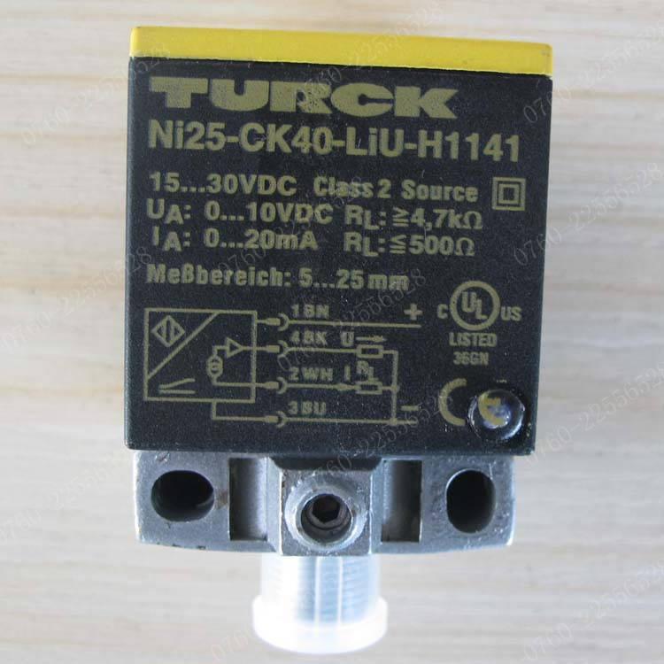 High quality original new Turck NI25-CK40-LIU-H1141 proximity switch sensor original spot bi15 ck40 liu h1141 proximity switch sensor 100% new high quality warranty for one year
