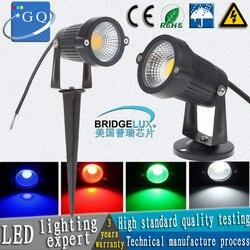 Ogrodowe światło spotowe led COB 3W 5W IP65 ogrodowa reflektor led 12V 110V 220V led lampa ogrodowa na szpikulcu do wody ogrodowej