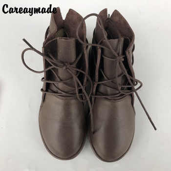 Careaymade-Women Leisure Shoes,2018 The original design Genuine Leather boots women's art retro temperament pure handmade boots - DISCOUNT ITEM  49% OFF All Category