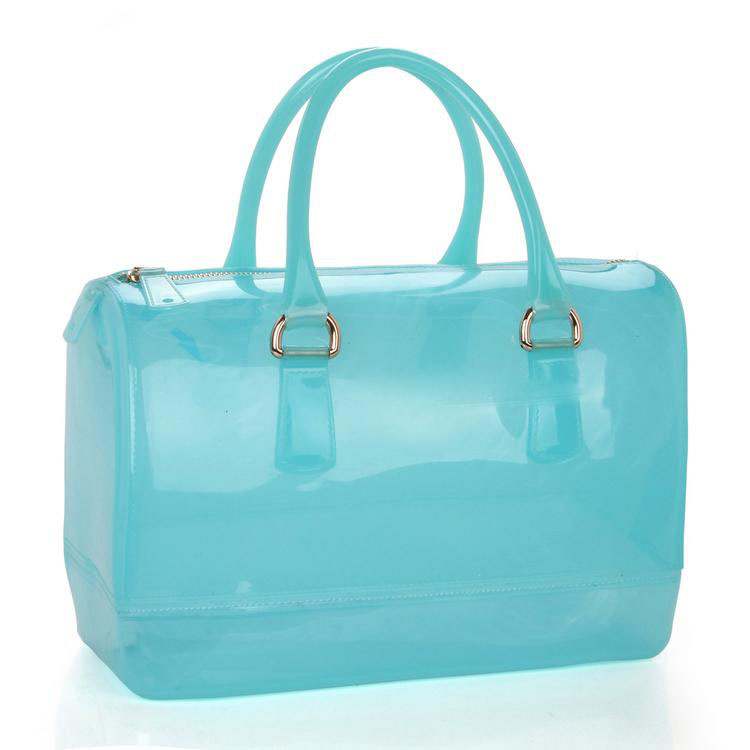 Pillow Style PVC Transparent Jelly Bag With Fashion Design Ladies Handbag Supplier Candy Bags free shipping butterfly shopping bag lovely pvc waterproof ted bag colorful jelly handbag women handbag with original logo