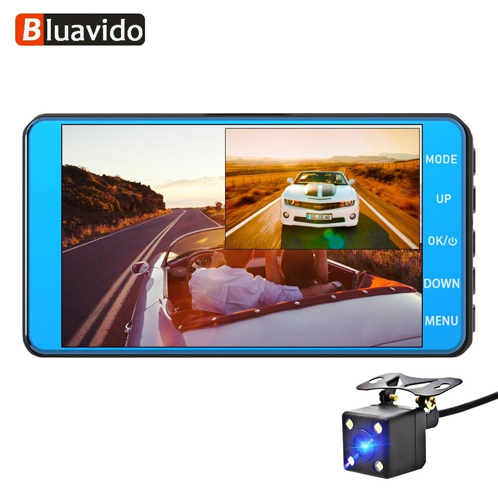 Bluavido Car-Dvr-Camera Dash-Cam ADAS Video-Recorder Dual-Lens Motion-Detect Night-Vision