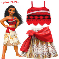 Brand New Moana Clothes Set 2018 Girls Moana Cosplay Costume Girls COS Clothing Suit 3 4