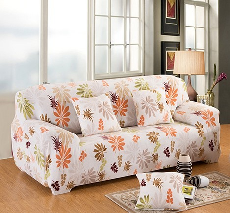 Flower Printed Elastic Sofa Cover Slipcover Corner Sofa