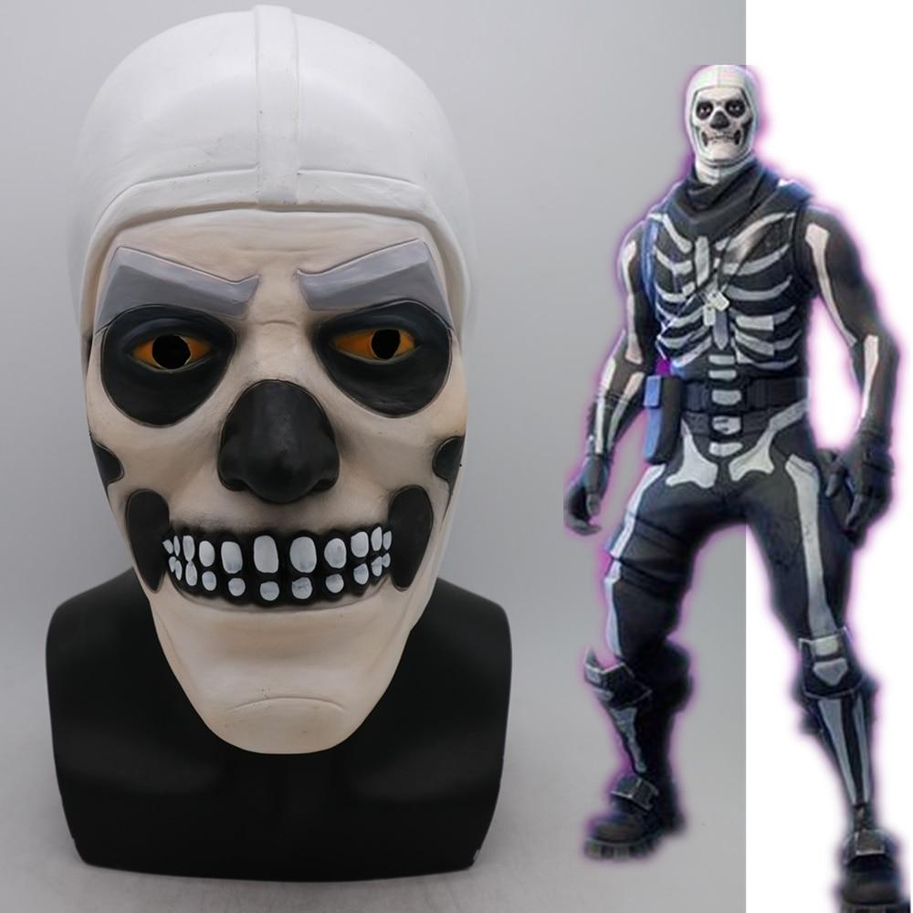 Game Adult Skull Trooper Skin Latex Mask Helmet Halloween Cosplay Costumes Full Face Masks Props