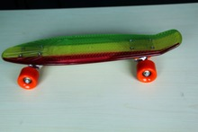 Mini cruiser fish plastic skateboard complete with painted truck