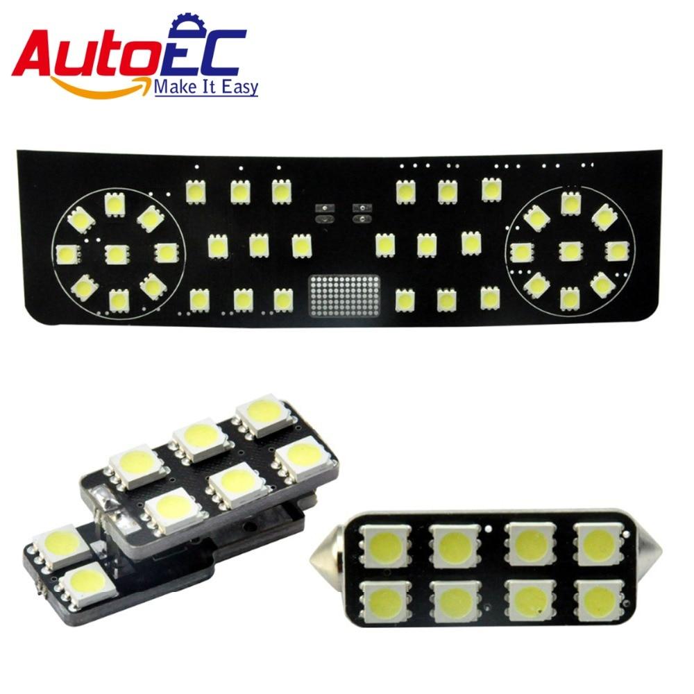 AutoEC 3pcs/set Car led Festoon Reading Lights dome panel Light For volkswagen vw Beetle Interior Dome Lamp kit 12V #LDK19