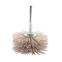 2Pcs 80Mm Grinding Flower Head abrasive Nylon Polishing Wheel Wear-Resistant Brush for Wood Furniture Mahogany