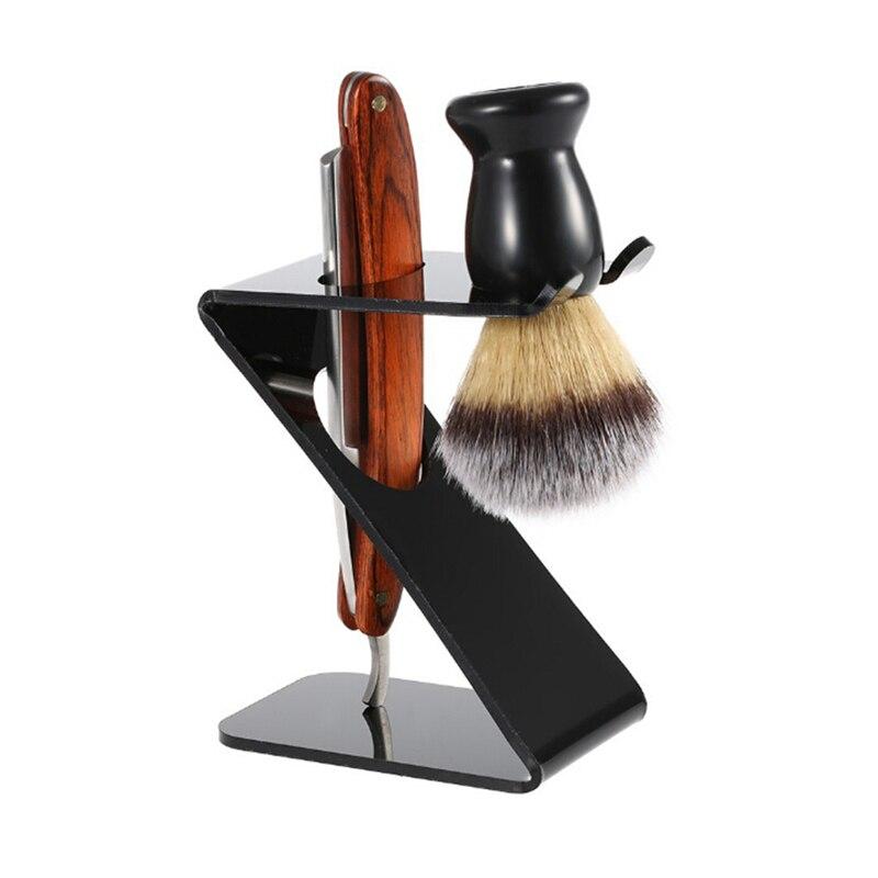 Drip Shaving Arcylic Stand For Shaving Brush Holder Barber Tool black salon shaving tool  1
