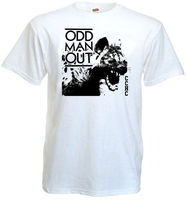 Tailored Shirts Odd Man Out V1 T Shirt White All Sizes Sizes S To 3XL Crew