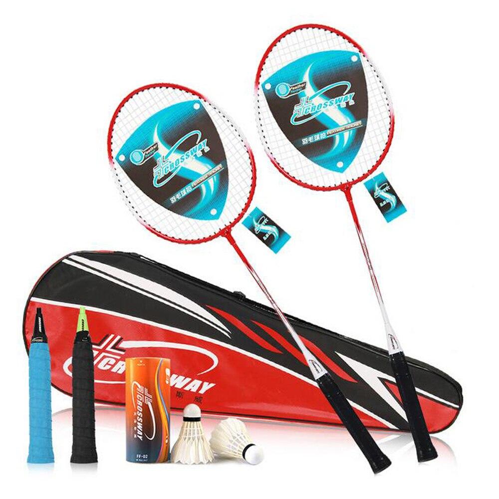 High Quality Badminton Racket Professional Men Women Badminton Rackets Light Weight Ferroalloy Fitness Equipment 1 Pair