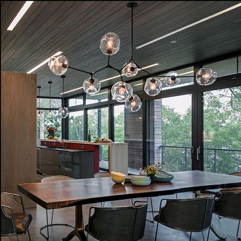 Lindsey Adelman Chandeliers lighting modern lamp novelty <font><b>pendant</b></font> lamp natural tree branch suspension light hotel dinning room