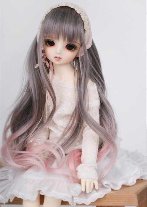 2018 Ամենաթարմ 1/3 1/4 1/6 Bjd Wig High temperature Long fashion Wavy Wire Bjd Wig SD For BJD Doll