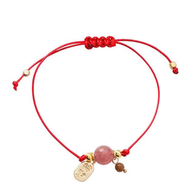 Bracelet Cordon Rouge Porte Bonheur