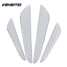Vehemo 4 шт. защита края двери автомобиля Наклейка анти столкновения полосы ленты