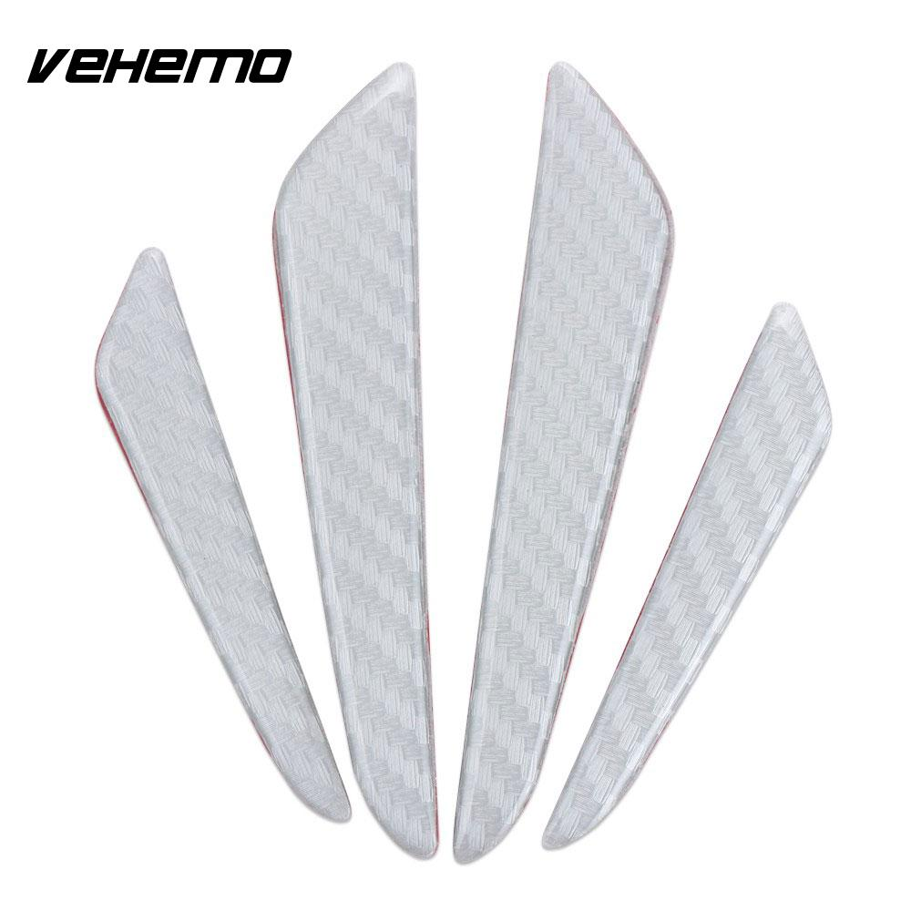 Vehemo 4PCS Car Vehicle Door Edge Protection Guard Sticker Anti Collision Strip Tape