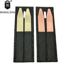 SHANG ZUN High Quality Copper Brass Collar Stays Bones Stiffeners 2 Colors for Business Formal Shirt