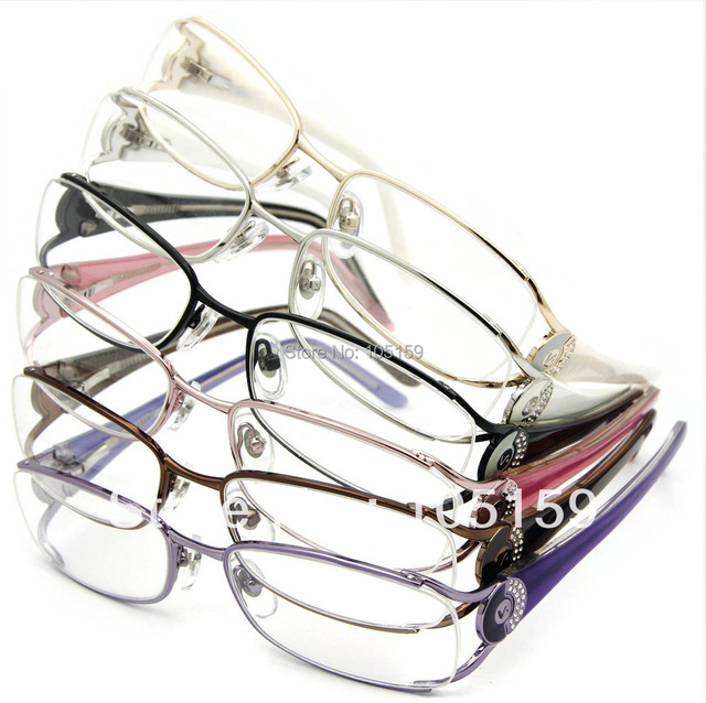 Eyewear Acessórios No Atacado (10 pçs/lote) oculos de grau mulheres 32 Rinestones Top Grau Armações de Óculos de Olho para As Mulheres