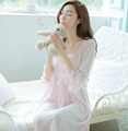 Free shipping service Home Furnishing Cute Princess BOW LACE Nightgown  s4