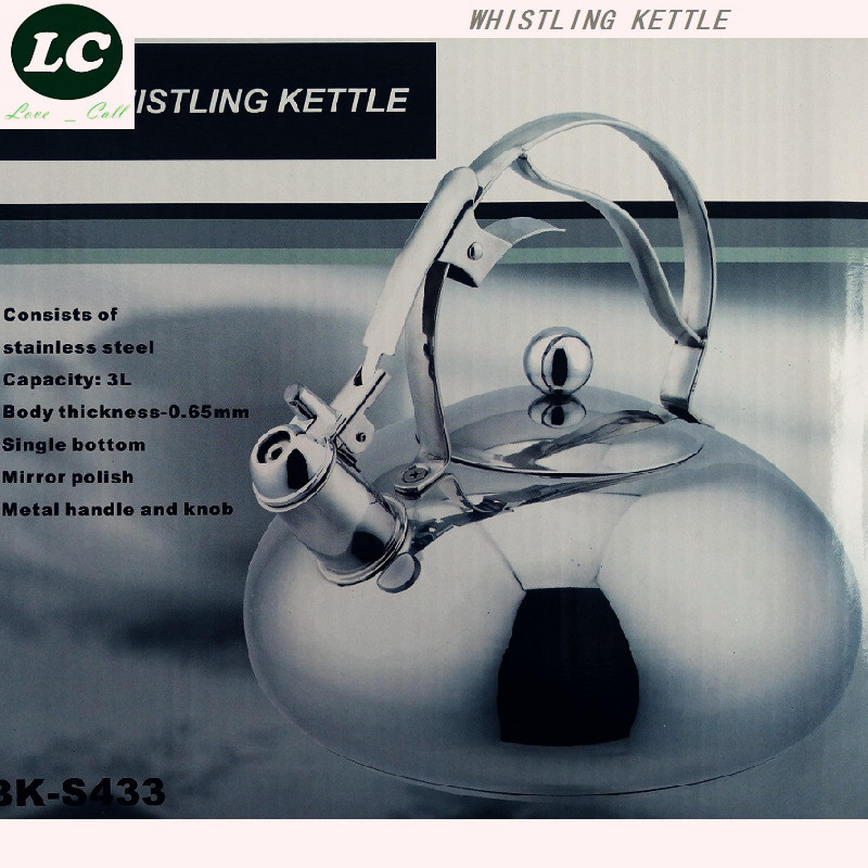 whistling kettle 3L stainless steel kettle cooker spirant whistle thickening water bottle kettle pot for boil water