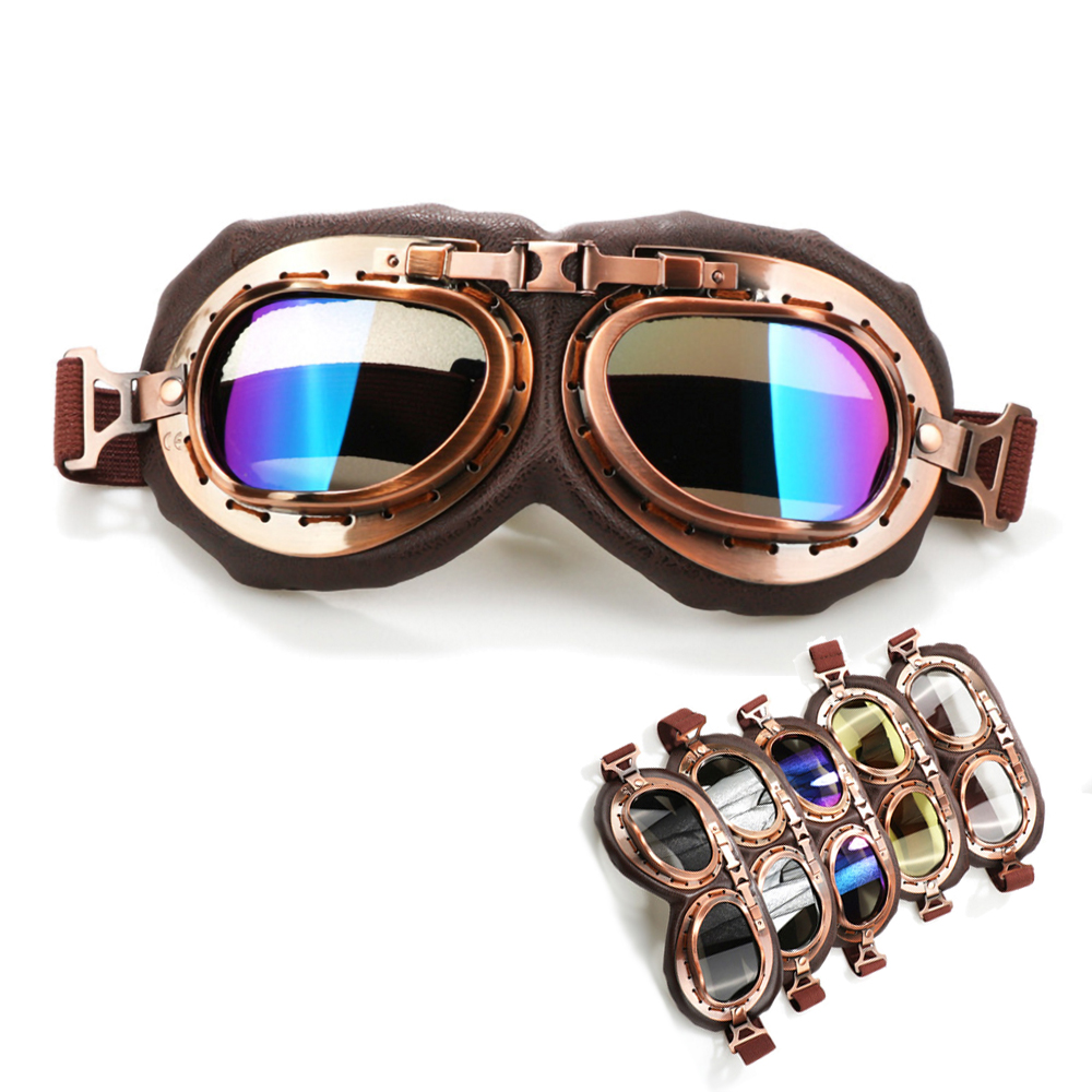 Back To Search Resultsnovelty & Special Use Trend Mark Wwii Vintage Motorcycle Goggles Racing Glasses Helmet Light Eyewear Pilot Retro Motocross Daft Punk Helmet Steampunk Accessories