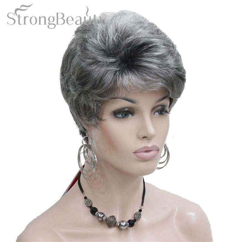 strongbeauty синтетические короткие вьющиеся волосы пухлые