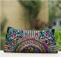 National Ethnic Vintage embroidery bag Embroidered one-shoulder messenger bag Hmong Handmade women's small Clutch handbag