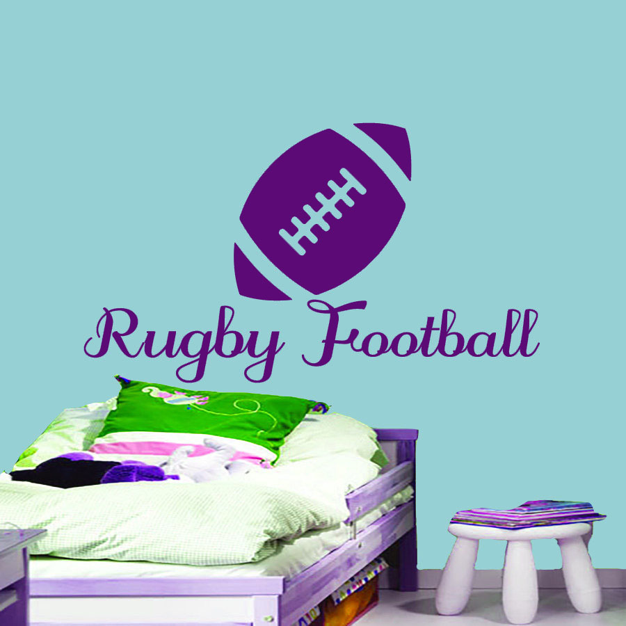 Rugby Football Wall Sticker Kids Bedroom Decorative Vinyl Art Murals Sports Home Decor