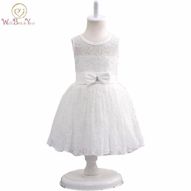 Weiße Blume Mädchen Kleider 2017 Spitze Kommunion Kleid Mädchen mit ...
