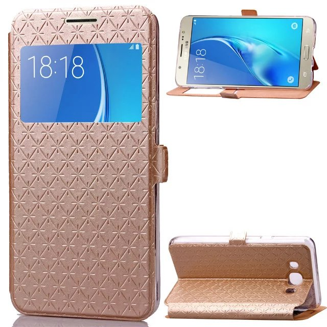 separation shoes fd2ea 3678e US $4.59 8% OFF|For Samsung Galaxy J7 2016 / J710 Bling Glitter Leather  Stand Flip Wallet Card Case For Samsung J 710 J 7 2016 Window View Cover-in  ...