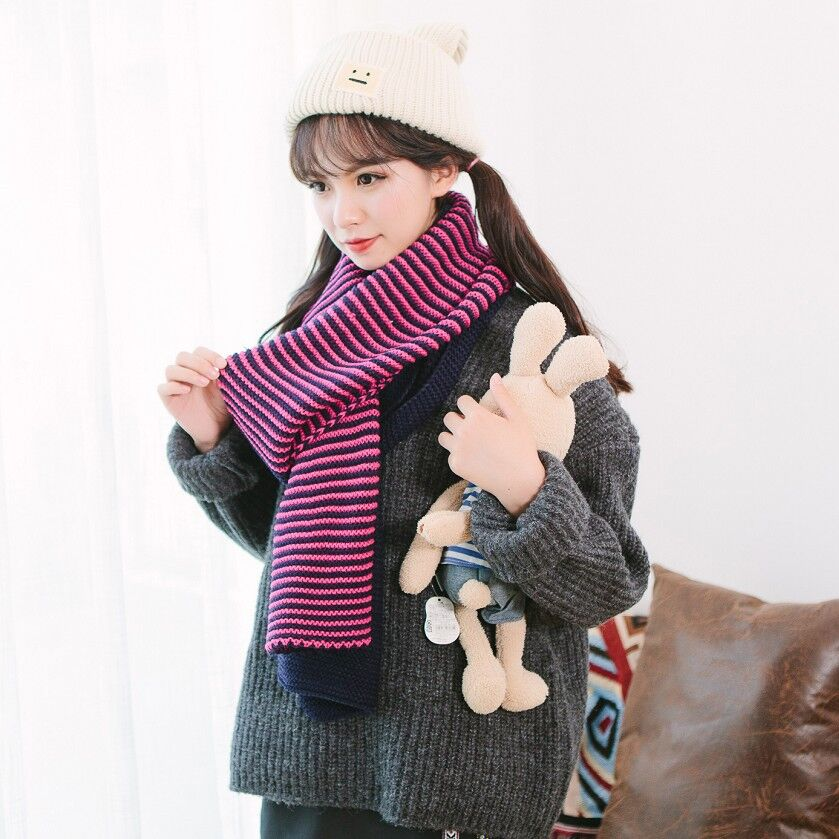 Image Fashion Plaid LIC for Women Double Layer Winter Warm Knit Scarf LICs Female Scarves Shawls Stoles Dachshund Ladies Scarf Collar