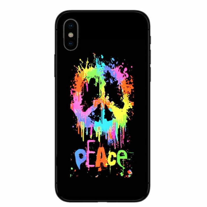 Психоделический, с индийской спиралью знак мира чужеродных Жесткий Прозрачная задняя крышка чехол для iPhone 4 5 6 7 8 PLUS X чехол