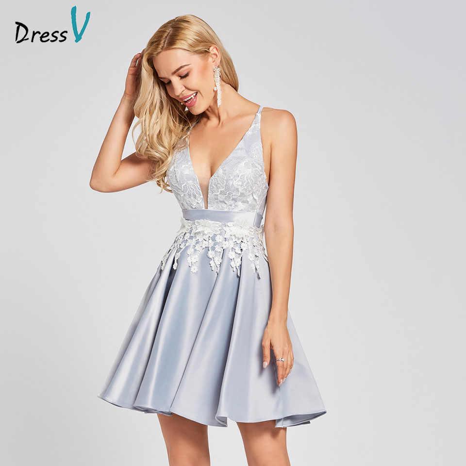 4dcdc57d054743a Платье серебряное коктейльное платье дешевое v-образный вырез А-силуэта без  рукавов крест-