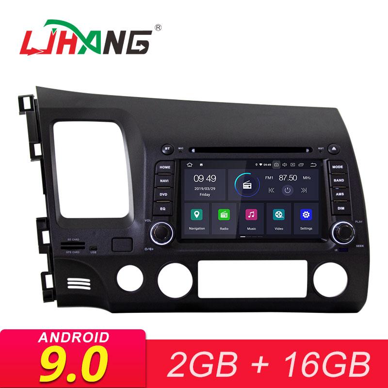 LJHANG Android 9.0 lecteur DVD de voiture pour HONDA CIVIC 2006 2007 2008 2009 2010 2011 autoradio multimédia 2 Din GPS Wifi stéréo IPS