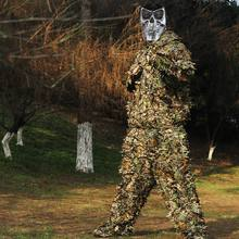 Hunting suit tops and pants new 3D maple leaf bionic camouflage camouflage sniper camouflage hunting clothes(China)