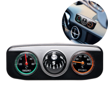 Car Ornaments Compass Thermometer Hygrometer For Auto Boat Vehicles 3 in 1 Guide Ball Interior Accessories