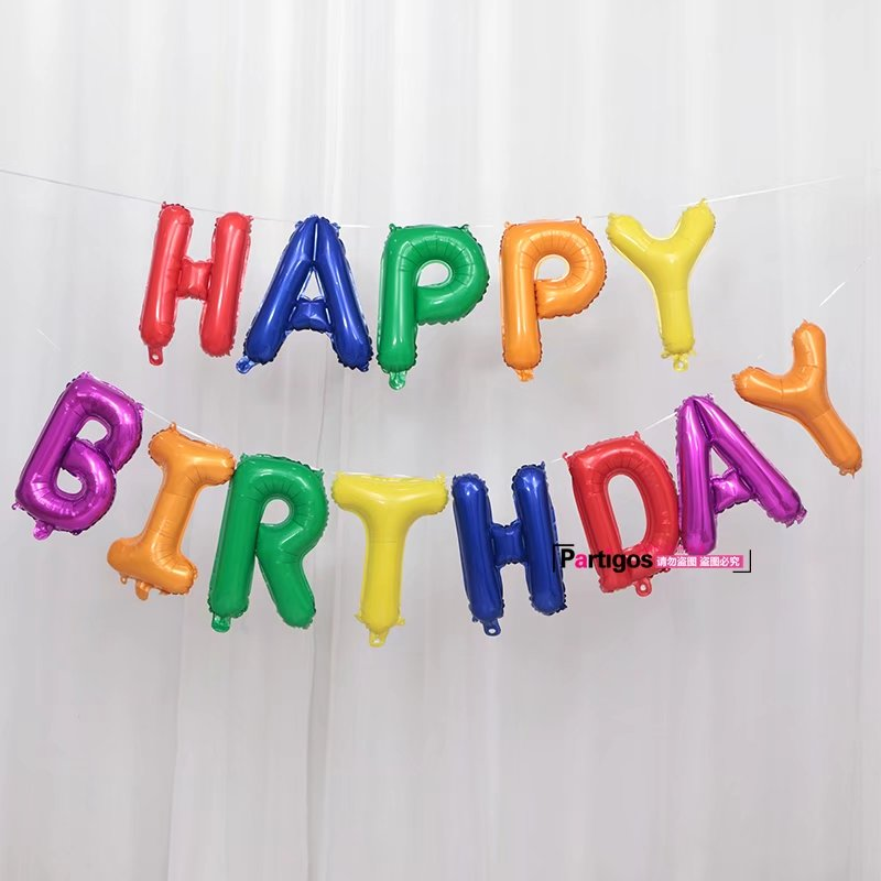 Image 4 - 13pcs Happy Birthday Letter Balloons 16inch Foil Ballons Birthday Party Decorations Rose Gold Silver Black Globos Gifts Supplies-in Ballons & Accessories from Home & Garden
